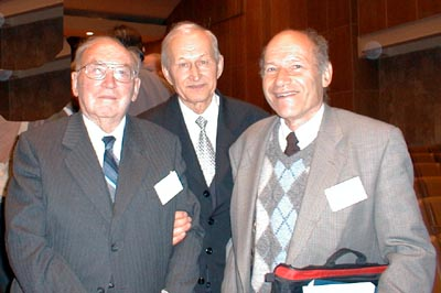 Professor Sir Maurice V.Wilkes (Great Britain), Professor Boris Malinovsky (Ukraine), Professor Frank Land (Great Britain)